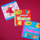 Childrens's books for shapes, colors, and numbers