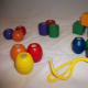 Melissa & Doug Primary Lacing Beads, sorted by shape