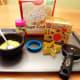 Ingredients and supplies to make alien cookies.