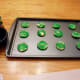 Our other cookies simply dipped in green sugar sprinkles.