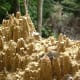 Miniature cities in the eroded soil