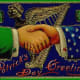 Uncle Sam and an Irishman shaking hands
