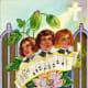 Three choir boys with flowers vintage religious Easter card