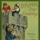 Kissing the Blarney stone vintage postcard