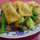 Crispy Gau Gee Mein (Chinese fried gau gee with cake noodles and vegetables)