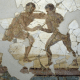 Wallpainting Of Boxers From The Bathhouse: Wallpainting of boxers from the bathhouse (St-Romain-en-Gal, Provence, France)