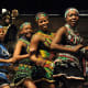 Tswana dancers attending a cultural event