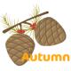 pine cones free clip art: Autumn
