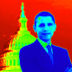 Barack Obama clip art -- in front of Capitol building in Washington D.C.