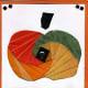 Card with iris folded apple