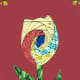 Card with iris folded tulip