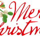 """Merry Christmas"" with mistletoe."
