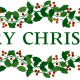 """Merry Christmas"" clip art."