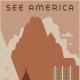 See America vintage travel poster -- Montana