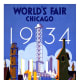 1934 World's Fair in Chicago vintage travel poster