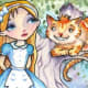 """""""Alice and the Cheshire Cat"""" by Elaine Cox"""