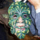 The artist has now completed his mask and it is ready to wear!