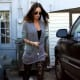 Megan Fox: Love the slouchy look! The patterned legging  adds an element of style.