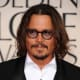 Johnny Depp, 49, at the Golden Globe Awards.  Johnny Depp has always worn long hair, but this one is my favourite. Notice the middle part is not straight.  It gives the hair style a trendy look. - 2013 Hairstyles for Men Short Medium Long Hair Styles