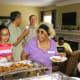 CCRC people love to eat. They also love to talk while they eat. So you will see a lot of people in these pictures eating as they enjoy renewing old friendships and meeting new people.