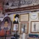 Vintage Charlie Chaplin posters and photos fill the walls of the shop.
