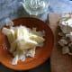 Sliced Parmesan, Champignon and lemon juice