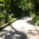 One of many boardwalks on the Four Mile Creek Greenway.