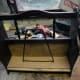 Use of an old LP rack divider as divider in newly designed and remodelled magazine rack