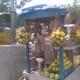 Roadside vendor selling mosambi juice