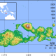Topographic map of Sumbawa, Indonesia