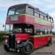 PWL 413 of Oxford Bus Museum Leaving Abingdon Air Show 2009 AEC Regent III 1950