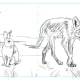 Thumbnail Sketch 5.  I almost chose this one but the rabbit appears more timid here, and not crafty enough.