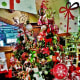 Christmas trees and ornaments for sale at Cornelius Nursery