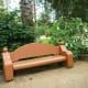 Unique looking bench at Mercer Arboretum