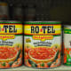 Ro-Tel tomatoes are usually with the canned tomatoes and tomato paste at our local grocery store