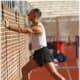 Variation of gastroc stretch against wall