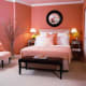 All Coral Wall Theme with Coral Bedding.