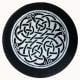 Slate coaster of Celtic design