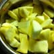 Apple slices mixed with lemon juice