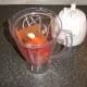 Preparing to blend spicy plum tomato pasta sauce ingredients