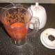 Blended spicy plum tomato pasta sauce