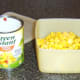Canned sweetcorn with bell peppers