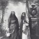 19th century Egyptian women with the bar'a