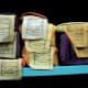 Bookshelf with Tibetan books at a library, McLeod Ganj. Dharamsala.