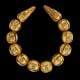 Necklace Tillya Tepe Tomb VI, first century A.D. Gold with granulation and turquoise Diam. of the beads- National Museum of Afghanistan © Thierry Ollivier / Musée Guimet