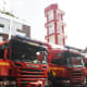 Fire engines ready to go