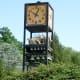 Clock tower at a National Zoo entrance, circa 2005.