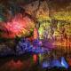 Prometheus Cave with colourful illuminations