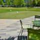 A mini golf putting course