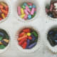 Crayons in cupcake liners